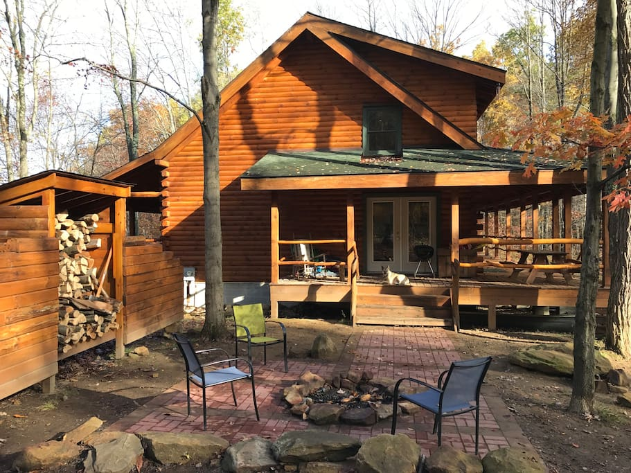A great outdoor space with porches on the front and back and a fire pit area to be enjoyed all year long!