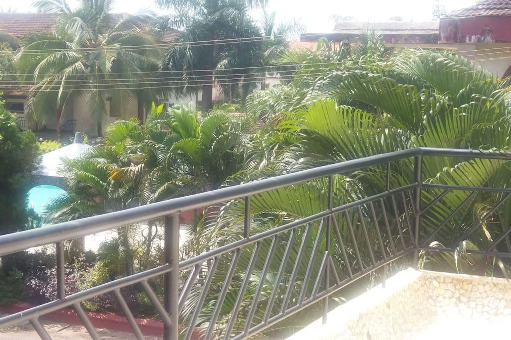 The Big open Balcony. Overlooking the pool...