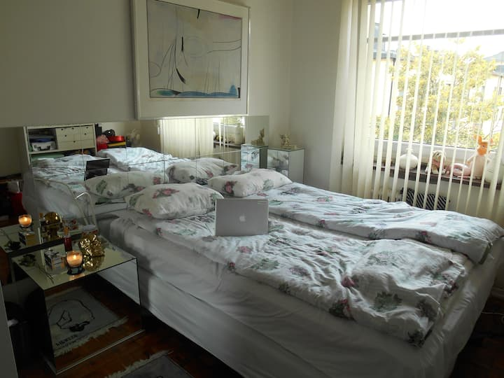 Room in comfortable apt close to the city centre