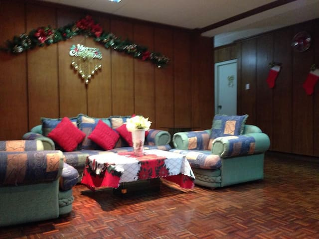 Convivial Living Room with Large Couch
