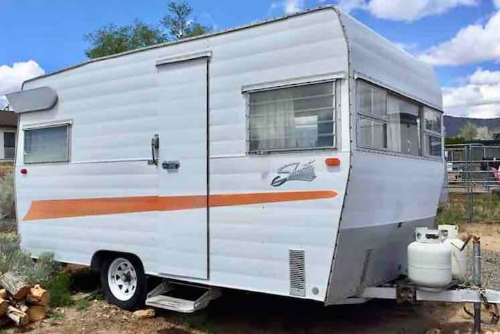 Vintage Shasta Camper in w/Super Cold AC!