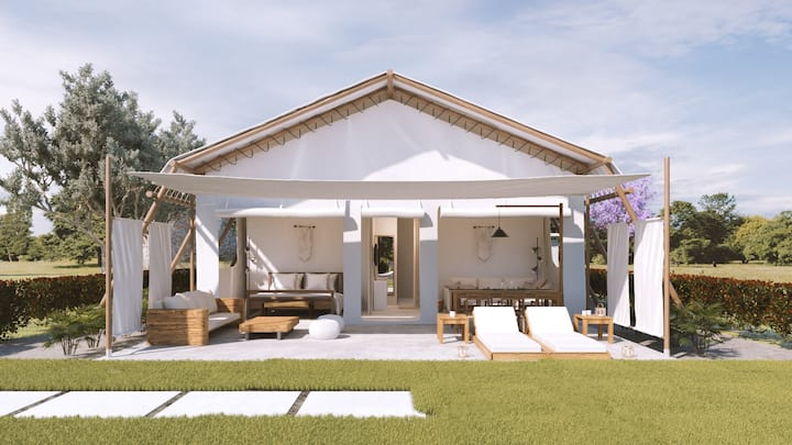 Tented Villa ext - Private Garden-Breakfast- Pool