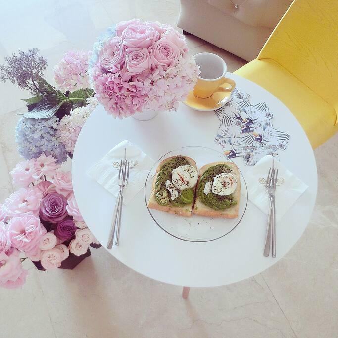 温馨的早餐,房客如有需求,房东会乐意为您准备。