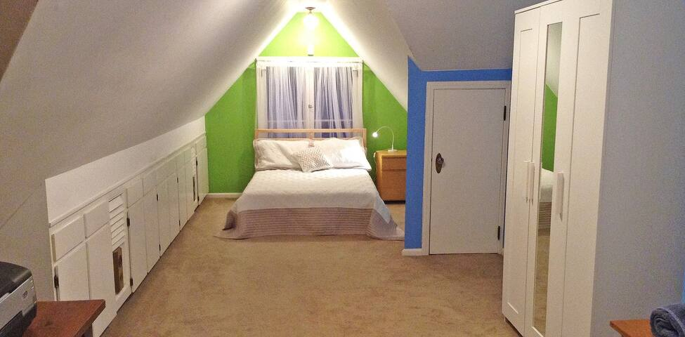 Upstairs Double Bedroom in a large house