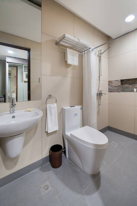 Modern bathroom for maximum cleanliness and comfort.