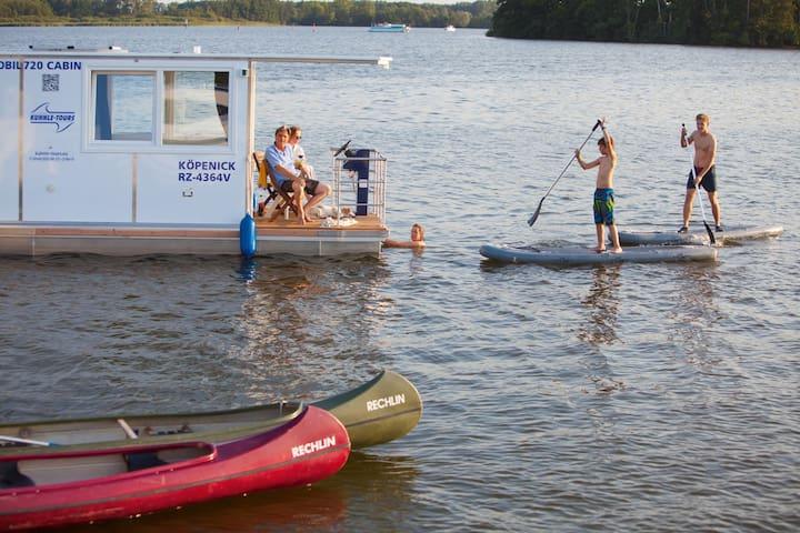 Barrierefreies Hausboot Febomobil 720 Cabin
