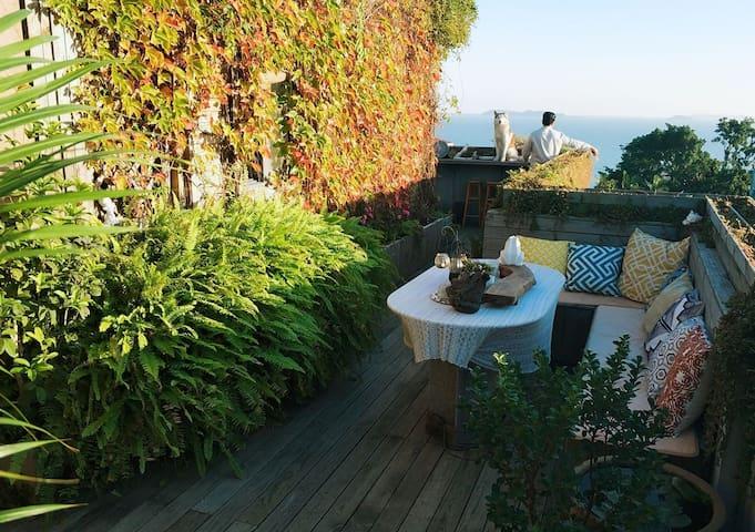蜜糖海景度假小屋,私享海景露台花园,入住可免费体验换装自拍哦