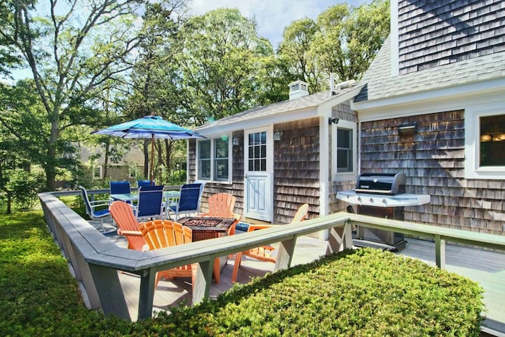#606: GAME ROOM! Large backyard w/deck. 10-min walk to Nantucket Sound!