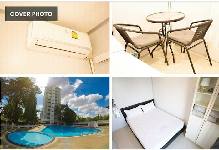 C3-Clean Private Room/Free Electricity/Big Pool/AC