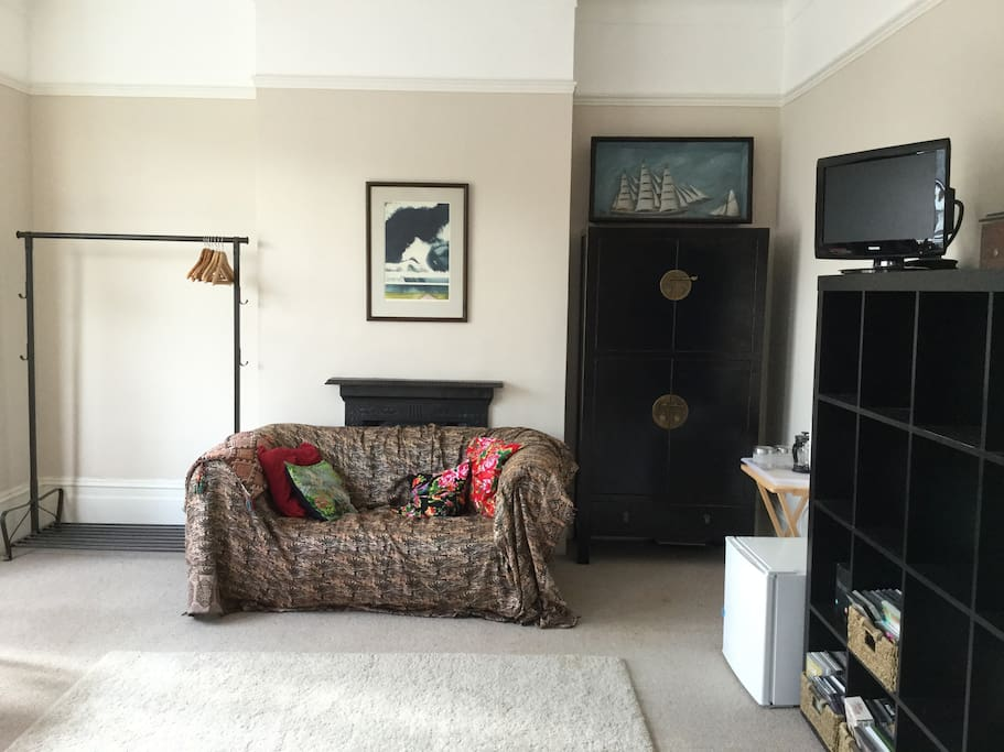 Sofa, storage and facilities