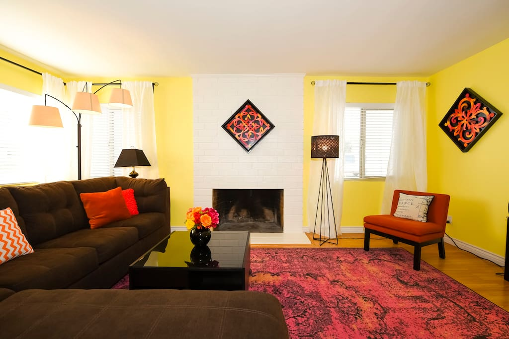 Living room with sleeper sofa.