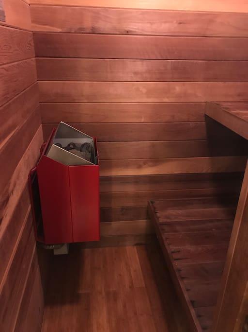 Dry cedar sauna
