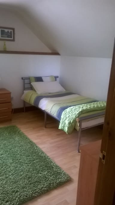 Part of 3 bedded suitable for a family staying with children.
