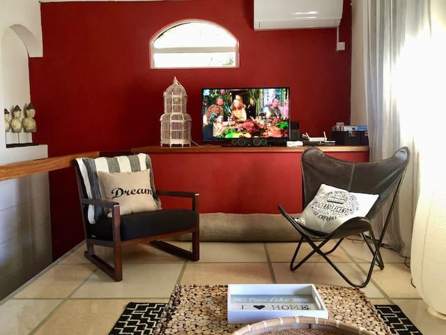 Salon TV à l'étage