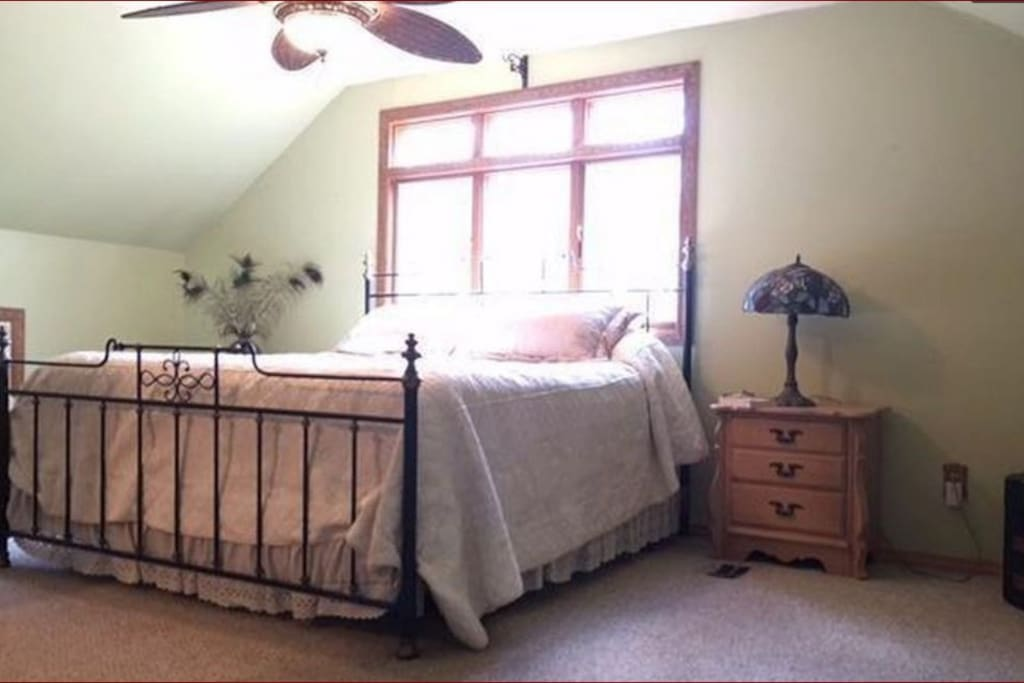 Upstairs king with ensuite and bonus room