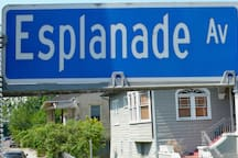 Historic Esplanade Avenue leads to the French Quarter and is just 1.8 miles from the apartment.