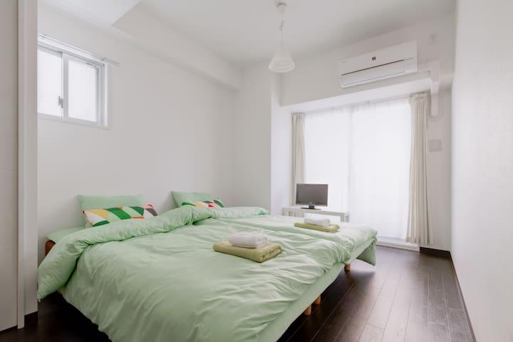 (21)★freewifi,nanba,station1min,roomclean★ - Naniwa Ward, Osaka - Apartemen