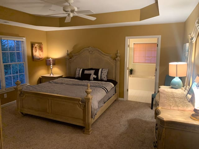 Master Bedroom With a King Bed - Huge Closet