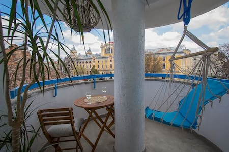 Cool Cluj Studio with Sunny Terrace - Cluj-Napoca - Appartement