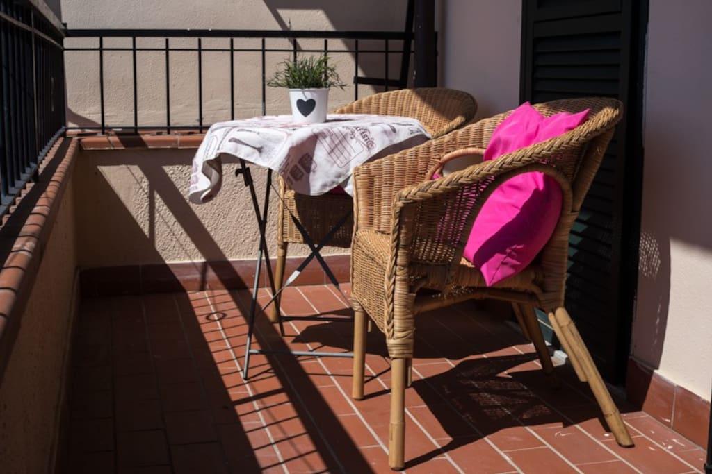 Balcone della camera da letto al primo piano