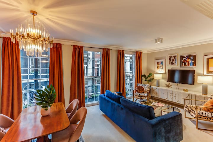 Hollywood Regency apartment in luxe Mayfair