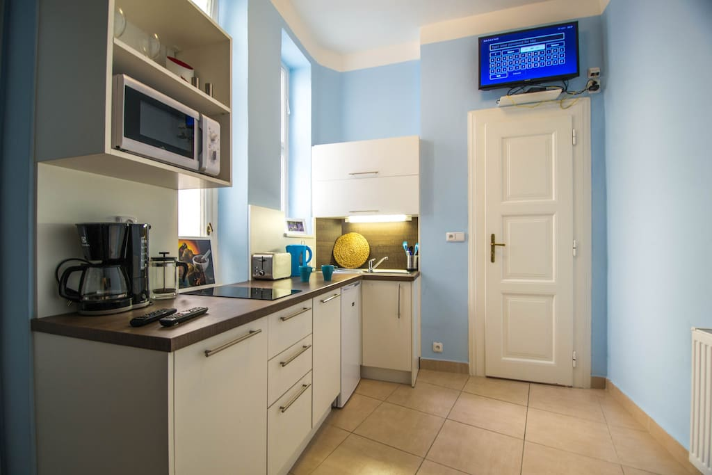 Our kitchen is fully equipped  with toaster, microwave oven, fridge, stove and dishwasher