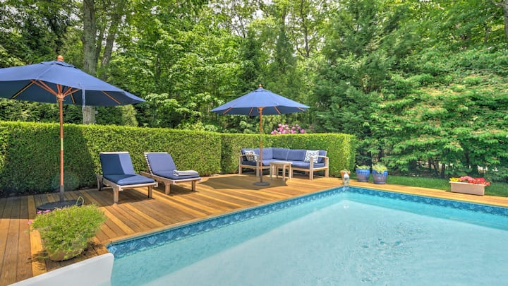 New Listing: Hamptons Charm in Easthampton/North  Amagansett Cottage w/ Heated Pool