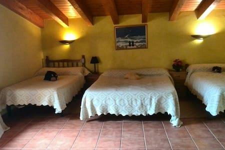 """Habitación Cuádruple en """"Casalet de la Clua"""" - Sant Esteve de la Sarga"""