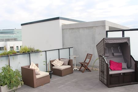 Rooftop Apartment in HAFENCITY, own bathroom - Hambourg - Appartement