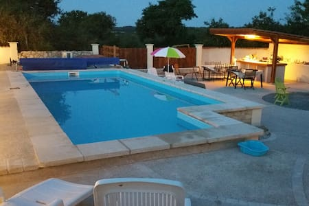 Rural 3 bed house with heated pool - Breuil-Barret - Huis