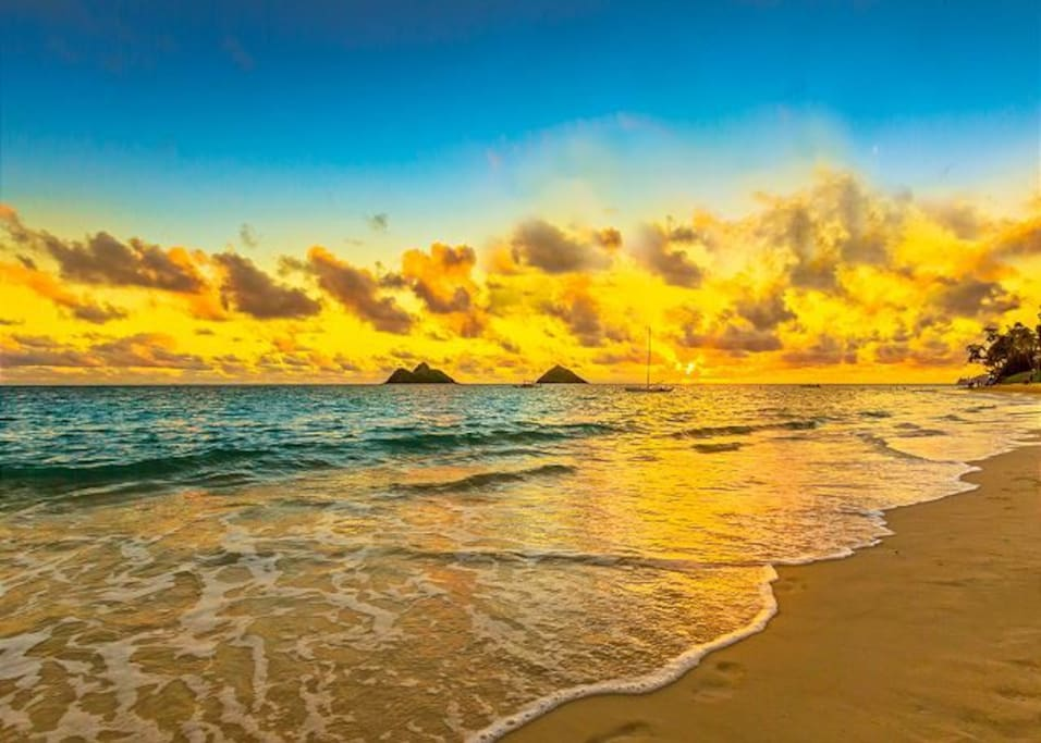Start your day with a sunrise walk on the most beautiful beaches in the world