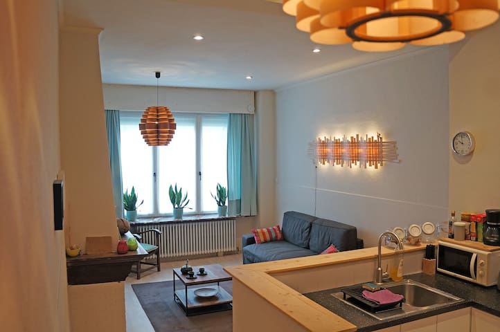 Ground fl apt in center of Ostende 20min to Bruges
