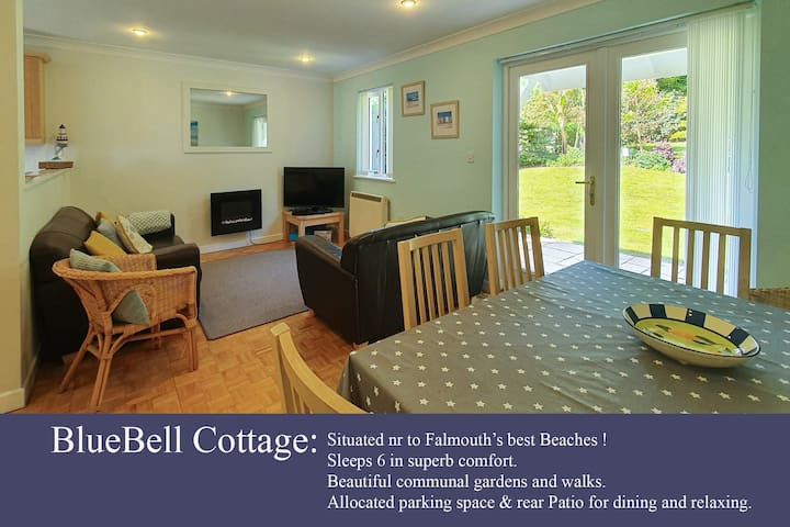 Bluebell Cottage, Sleeps 2-6, Falmouth, Cornwall