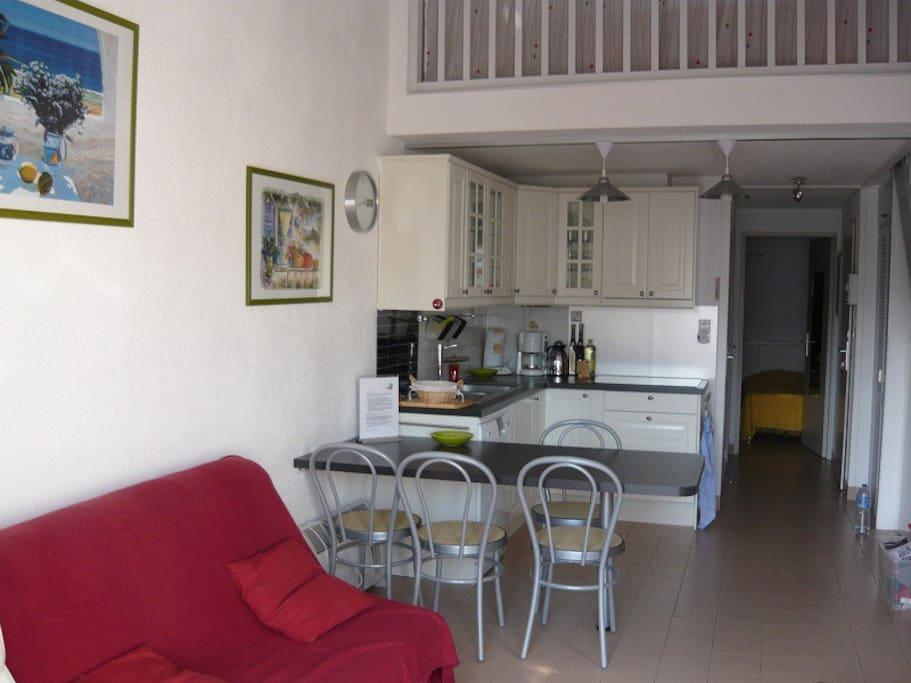 Living met open keuken