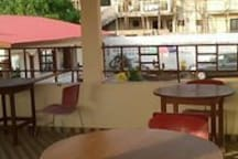 Roof top bar- Enjoy entertainment, local beer away from the City.
