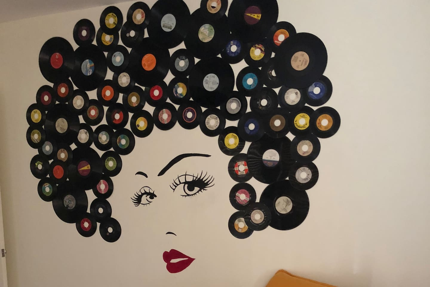 FABULOUS Instagram Worthy Mural in 2nd Bedroom!  Share your Selfie with Disco Deb!