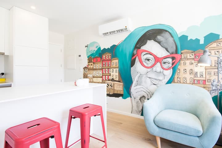Pop art apartment in Porto by Cozzy Homes