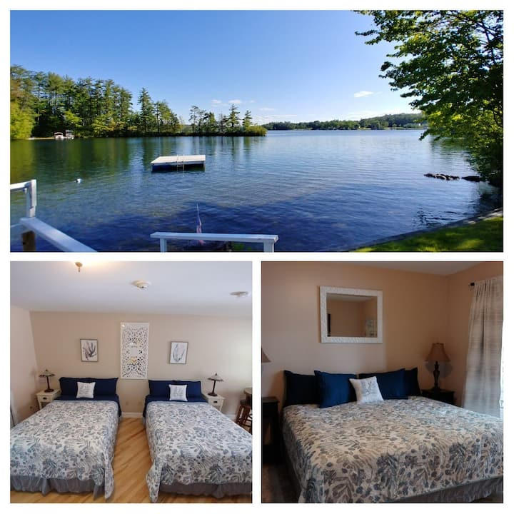 Lake & Mtn views! Waterfront Sleeps 6 w/Kit, porch