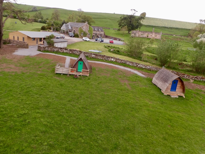 Glamping in Yorkshire Dales. Space and Fresh air