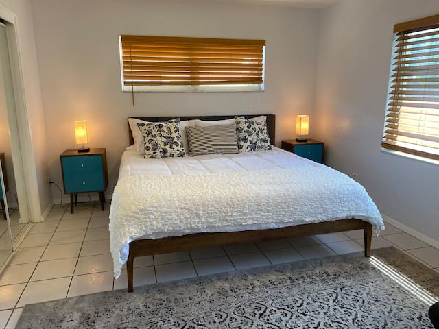 Master Bedroom with King Bed + Office