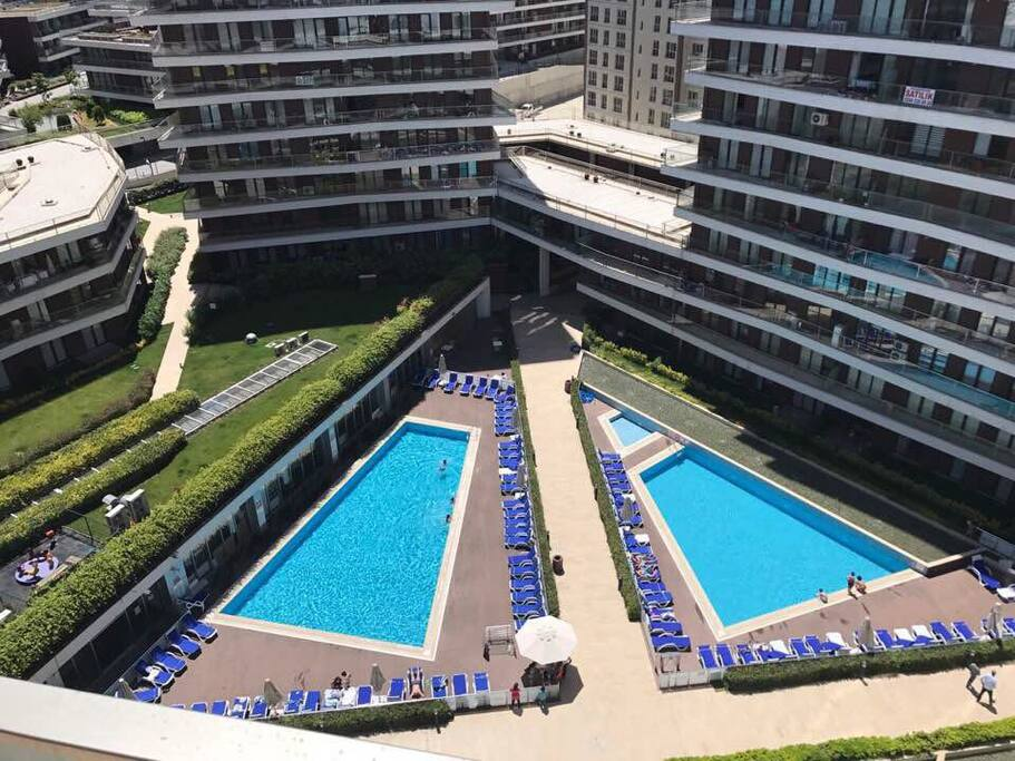 Cozy nice great view with gym pool sauna appartements louer istanbul istanbul turquie - Piscine istanbul ...