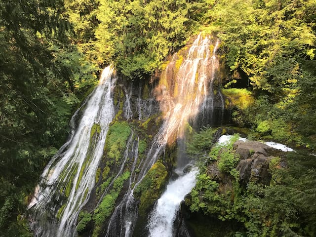 Panther creek falls about 10-15 minutes from the house.