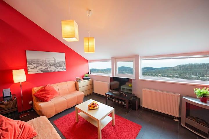 Luxusní horský apartmán Jeseníky