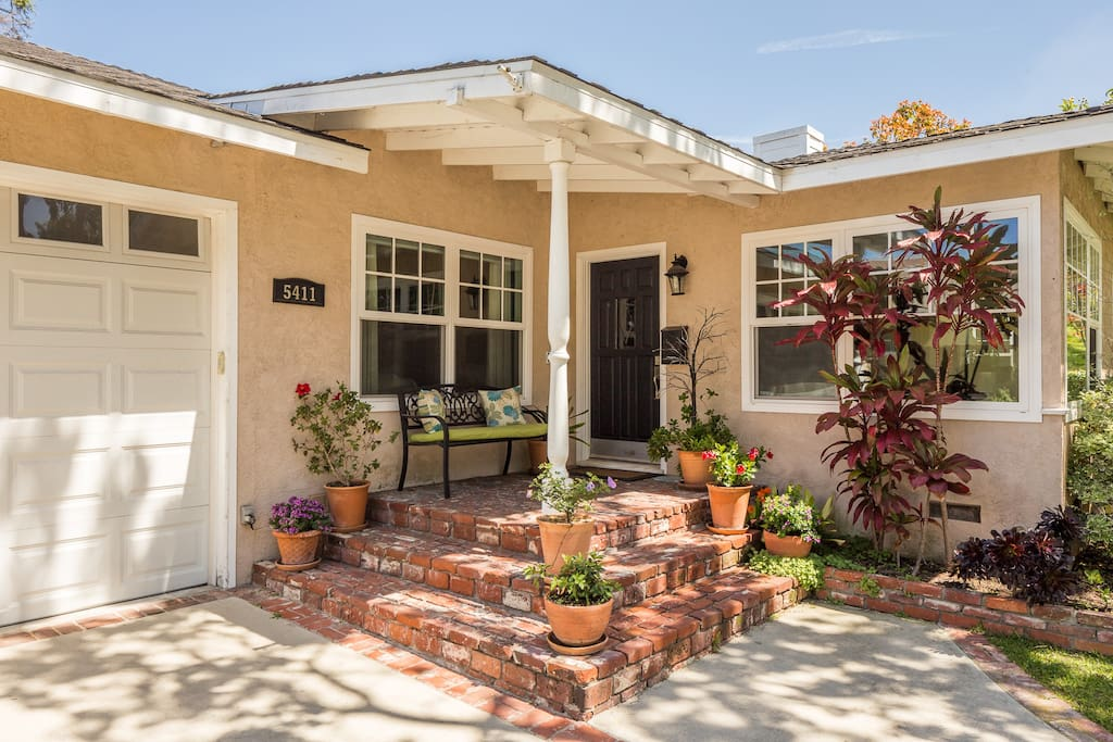 Front porch entrance for Guests. Keyless entry.  Hosts have separate entrance.