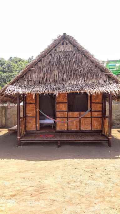 Individual cabana good for 5 with shared toilet and eco shower block