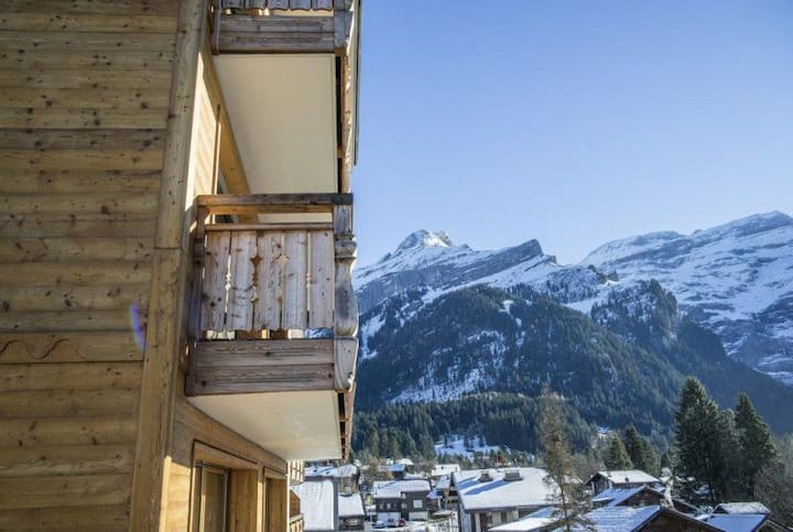 Lux Appartement ski 6 min à pieds. Sauna Fitness