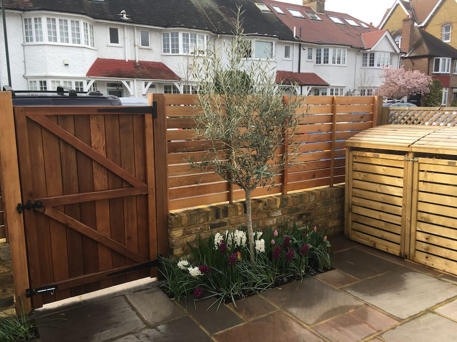 Secluded enclosed front garden