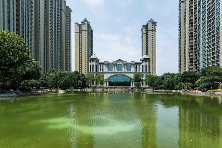 【公园里的家】湖城最美社区+恒大影城+楼王+湖景+轻奢美风一居