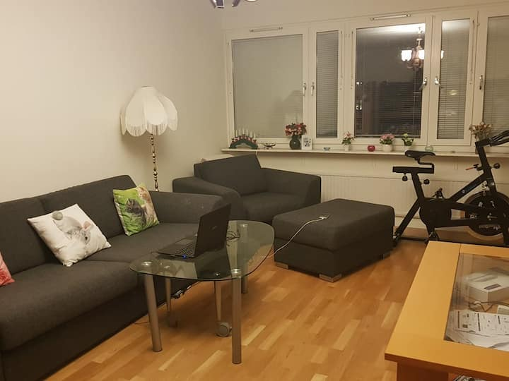 two room apartment close to city center