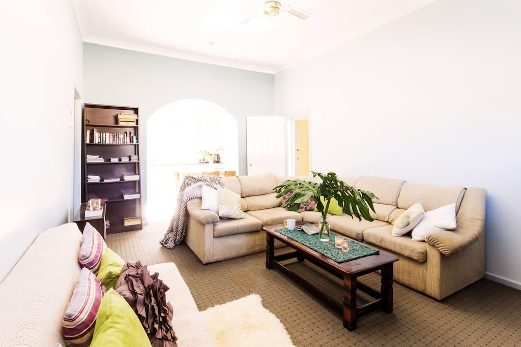 Living Area 3 - Looking Towards Kitchen and Door to Bathroom and 3rd Bedroom